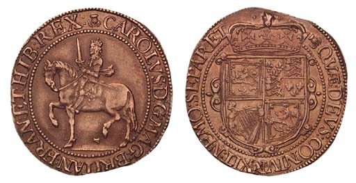 Charles I, Thirty shillings, t