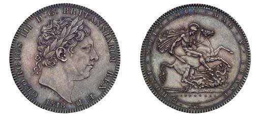 George III,  Crown, 1818 LVIII