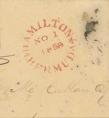 cover 1858 (1 Nov.) brown enve