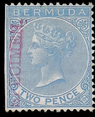 Specimen  2d. blue handstamped