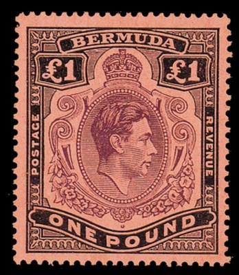 unused  £1 deep reddish purple