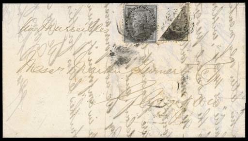 cover MALAYA: 1859 (Sept.) ent