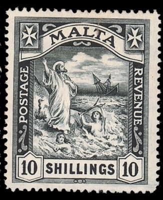 unused  1919 MCA 10/- black, f