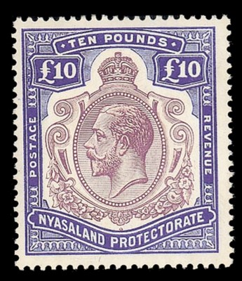 unmounted mint  -- £10 purple