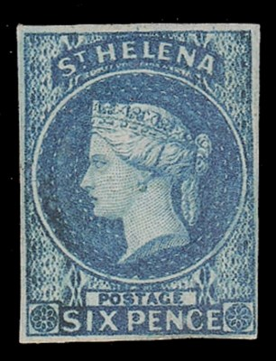 unused  1856 imperf. 6d. blue