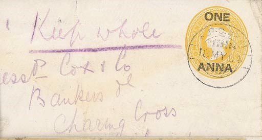 cover 1904 (18 May) India 1a.