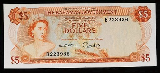 Bahamas, Government Issue, $5,