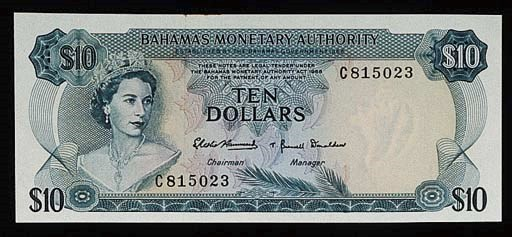 Bahamas, Monetary Authority, $