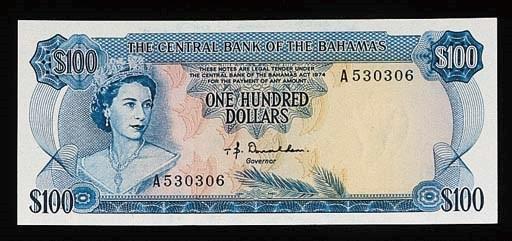 Bahamas, Central Bank, a set o