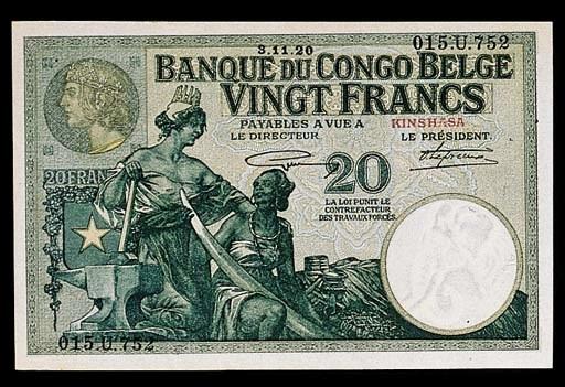 Banque du Congo Belge, 20-Fran