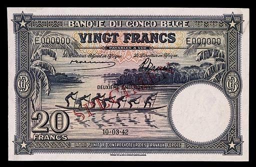 Banque du Congo Belge, specime