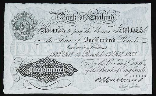 Bank of England, B G Catterns,