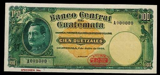 Guatemala, Banco Central, spec