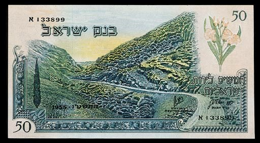 Bank of Israel, a set of the 1