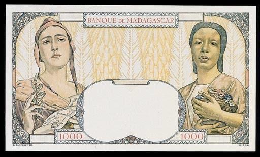 Banque de Madagascar, specimen