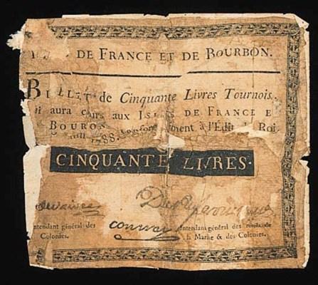 Mauritius, 50-Livres, 1788, bl