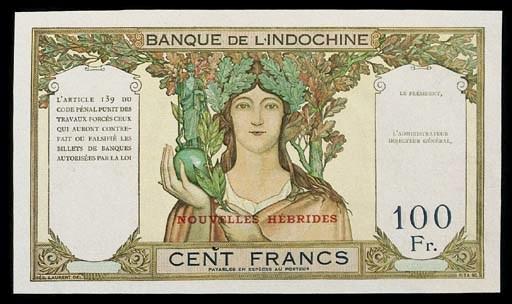 New Hebrides, Banque de l'Indo