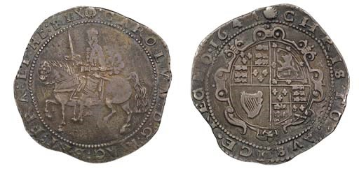 Exeter mint, Crown, 1644, m.m.