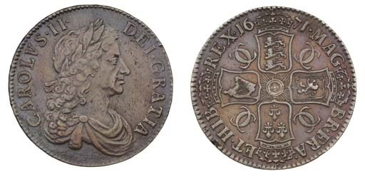 Crown, 1671, by John Roettier,