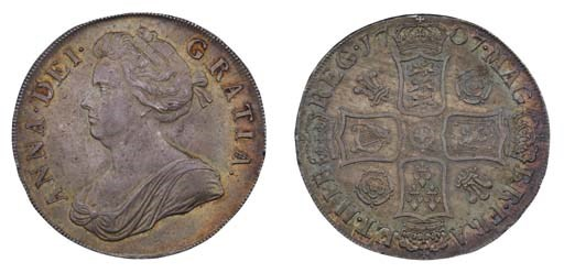 Crown, 1707, by John Croker, f