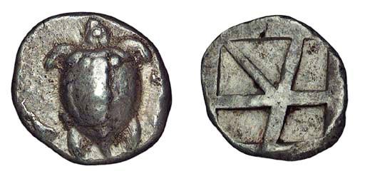 Ancient Greek Coins, Aigina (c