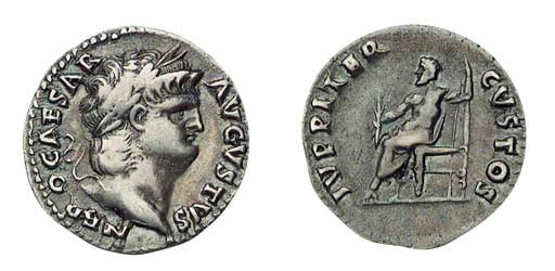 Roman Republic, Nero, Denarius