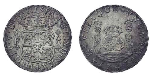 Pillar Dollar, 1747 MF, posthu