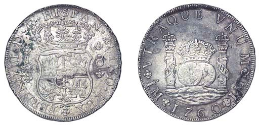 Carlos III, Pillar Dollar, 176