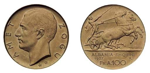 Foreign Coins, Albania, Zog (1