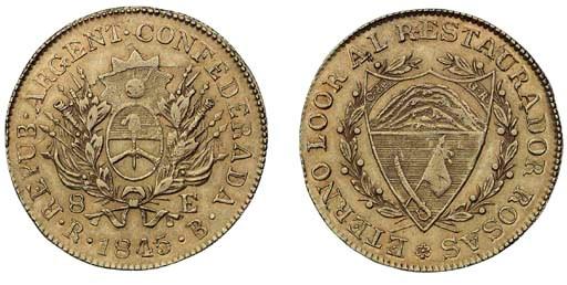 Foreign Coins, 8-Escudos, 1845