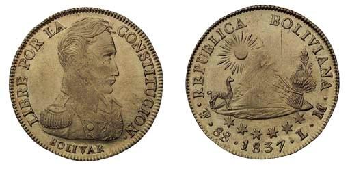 Foreign Coins, Bolivia, 8-Escu