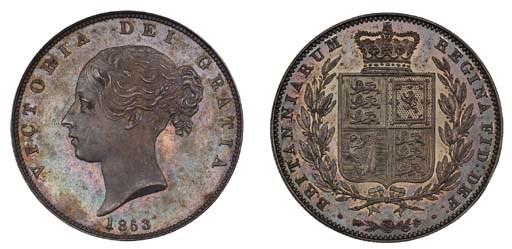 Victoria, proof Halfcrown, 185