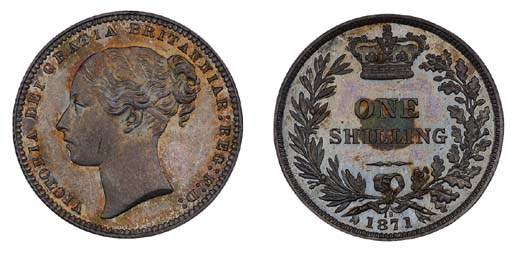 Victoria, proof Shilling, 1871