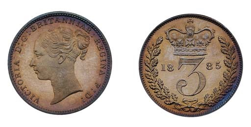 Victoria, proof Threepence, 18