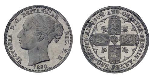 Victoria, pattern Penny, 1860,