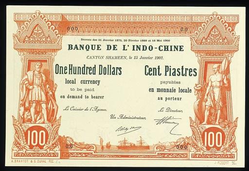Banque de l'Indo-Chine, specim