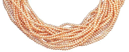 A PINK CULTURED PEARL NECKLACE