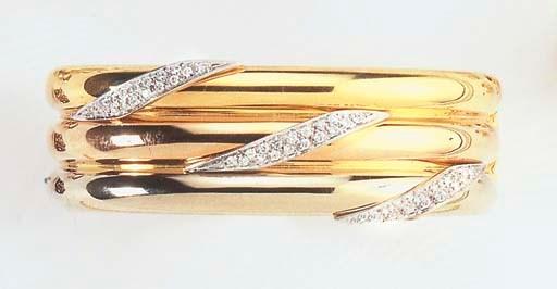 A DIAMOND AND TRI COLORE GOLD
