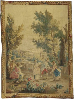 An Aubusson pastoral tapestry