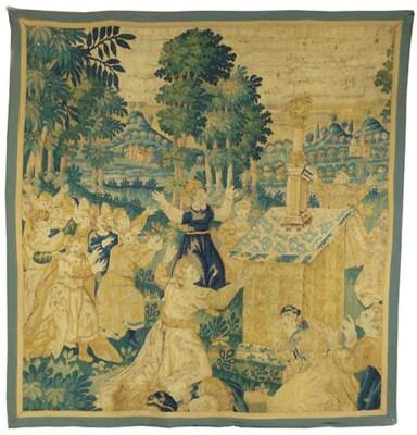 A Flemish tapestry fragment de
