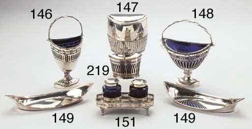 A Dutch silver inkstand