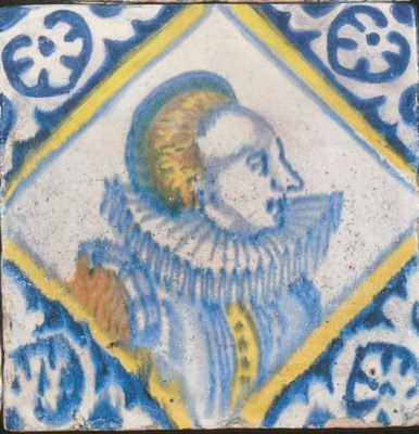 A Dutch polychrome portrait ti