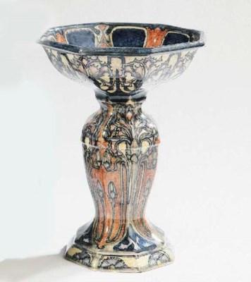 A glazed pottery dish