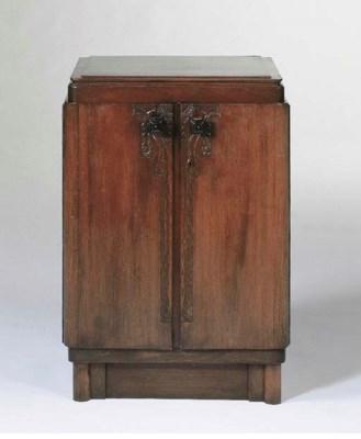 A mahogany silver cabinet
