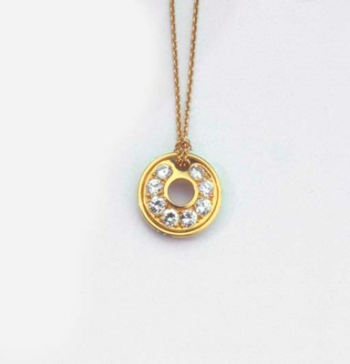 A GOLD AND DIAMOND PENDANT