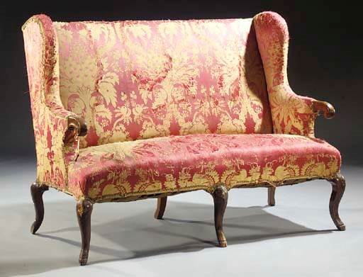 A German stained walnut settee