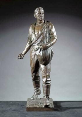 A bronze group of a sower 'Neu
