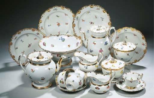 A Meissen porcelain Biedermeie
