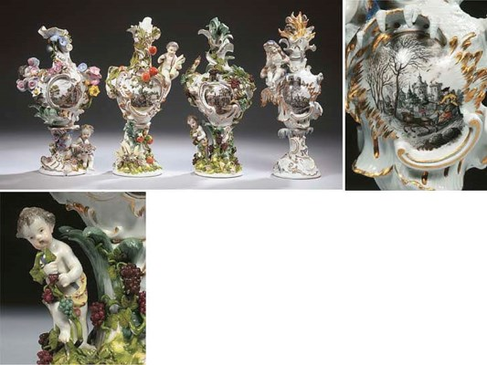 A Meissen porcelain Rococo fig