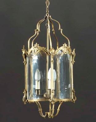 An ormolu hall lantern